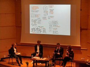 Illustrations en direct des tables rondes sur l'oncologie à l'Institut Curie