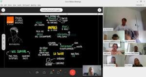 les idées en direct lors d'un séminaire digital